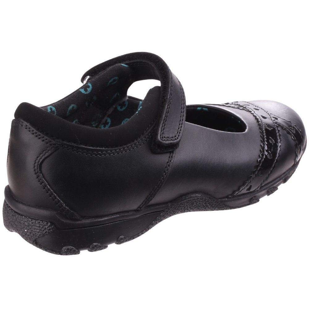 Hush Puppies Girls Olivia Adjustable Leather School Shoes