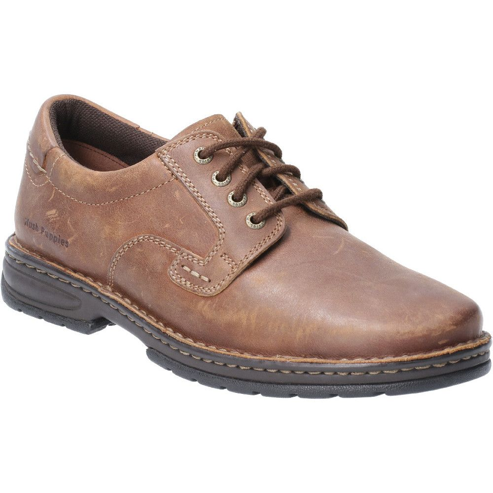 Hush Puppies Mens Outlaw II Laced Leather Shoe Oxford Shoes