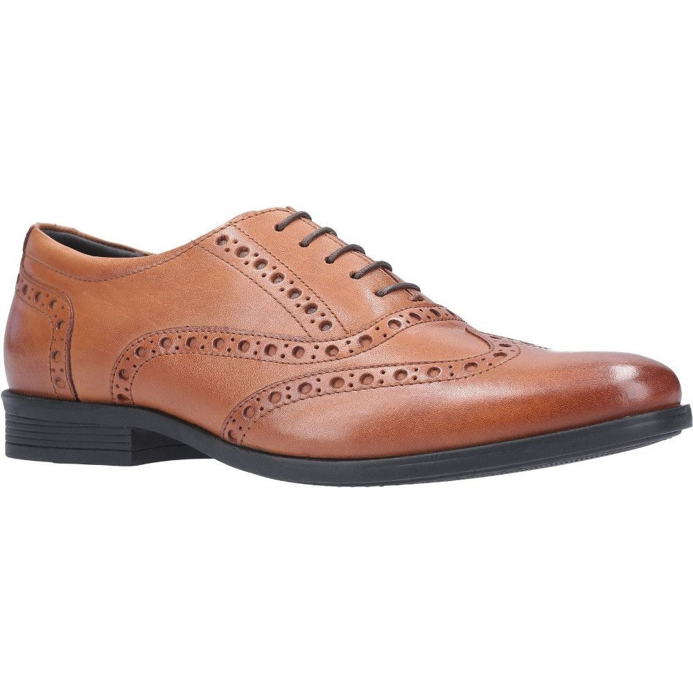 Hush Puppies Mens Oaken Brogue Lace Up Leather Oxford Shoes