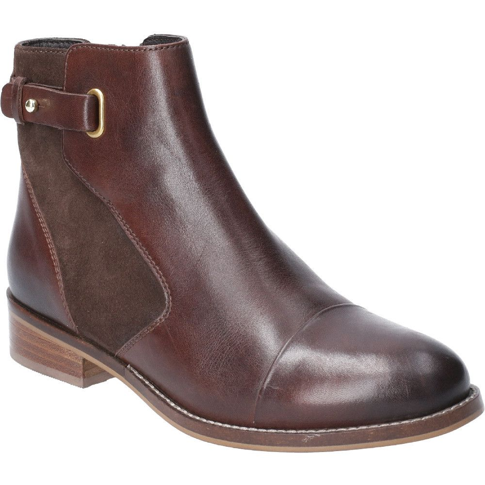 Hush Puppies Womens Hollie Zip Up Leather Ankle Boots