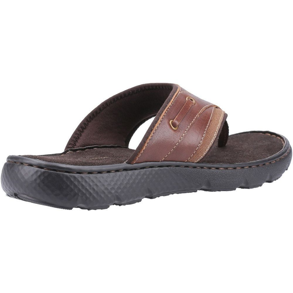 Hush Puppies Mens Connor Slip On Durable Leather Flip Flops
