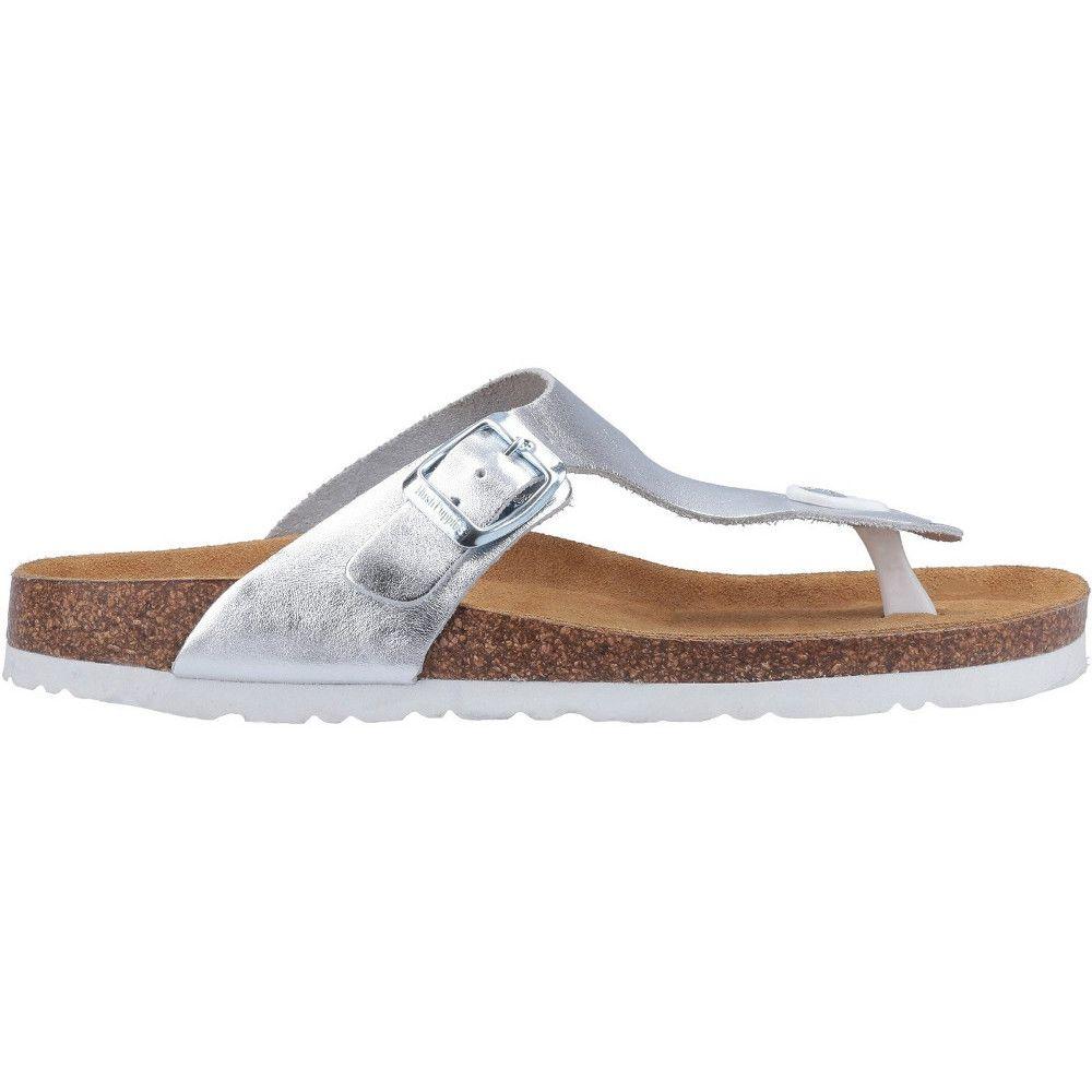 Hush Puppies Womens Kayla Leather Slip On Sandals