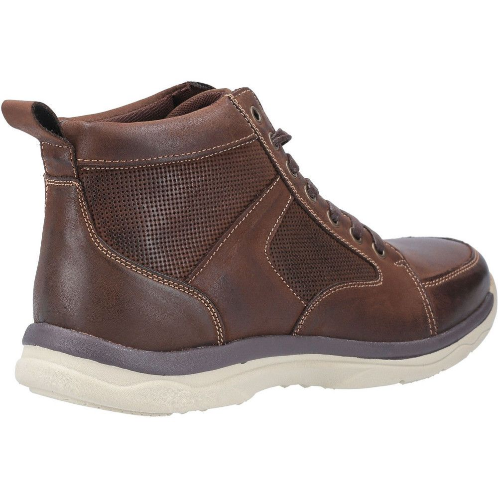 Hush Puppies Mens Newton Leather Lace Up Ankle Chukka Boots