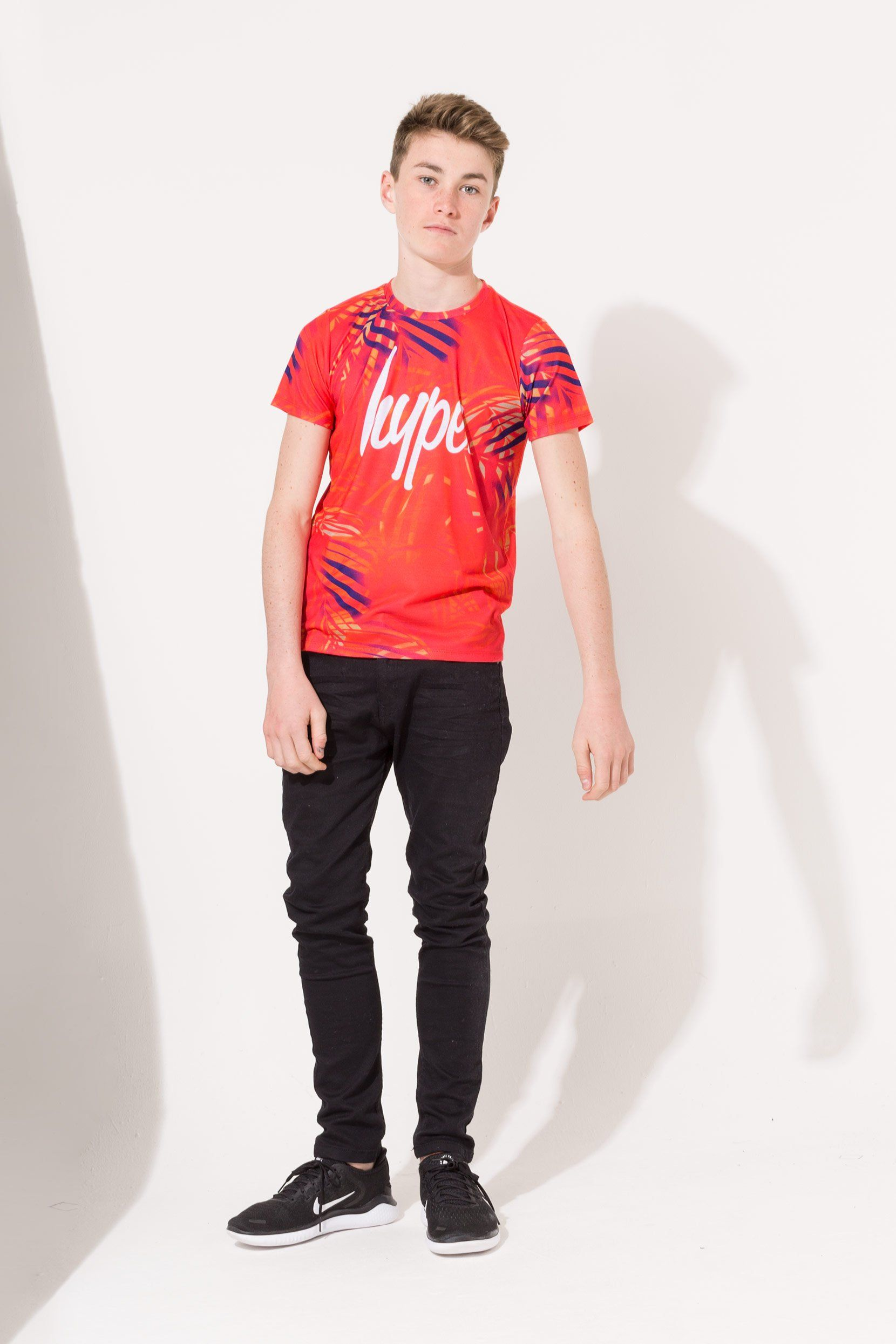 Hype Red Palm Crest Kids T-Shirt