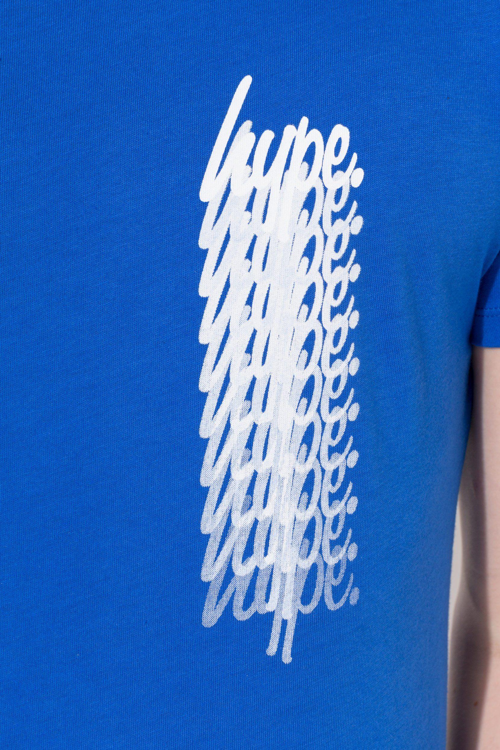 Hype Blue Script Fade Repeat Kids T-Shirt