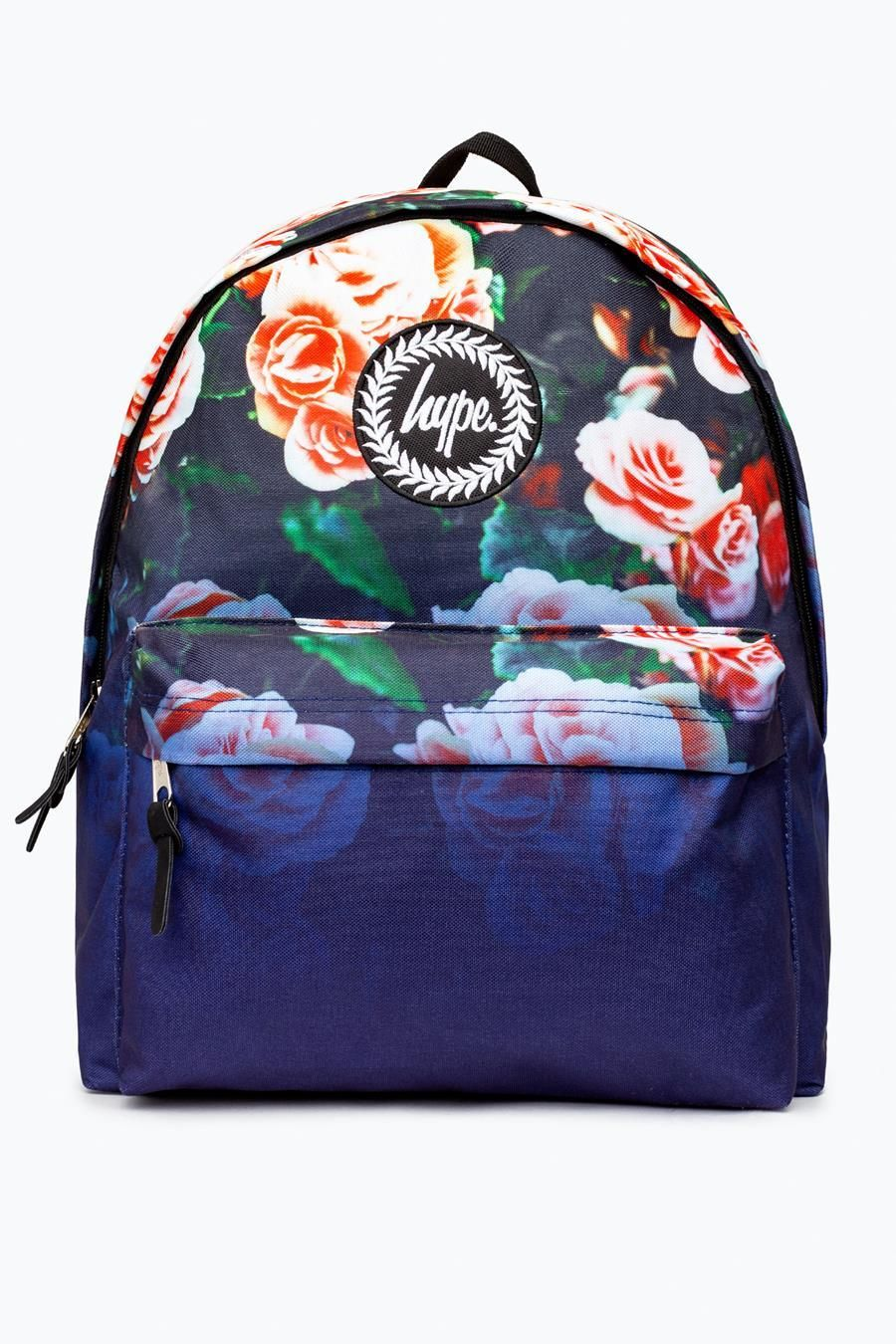 Hype Navy Floral Fade Backpack
