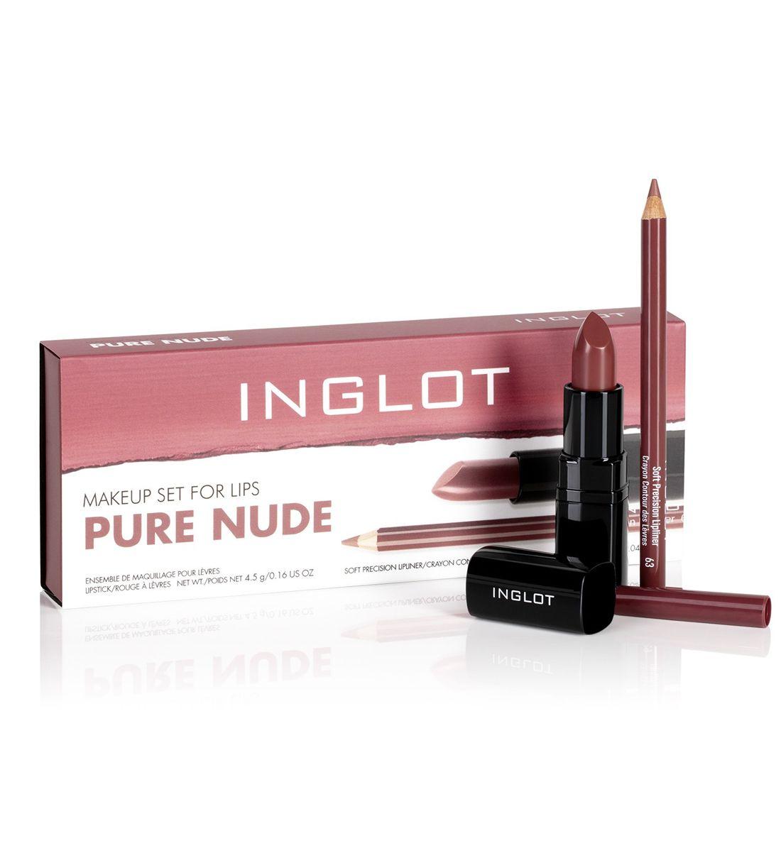 Inglot Makeup Set for Lips - Pure Nude