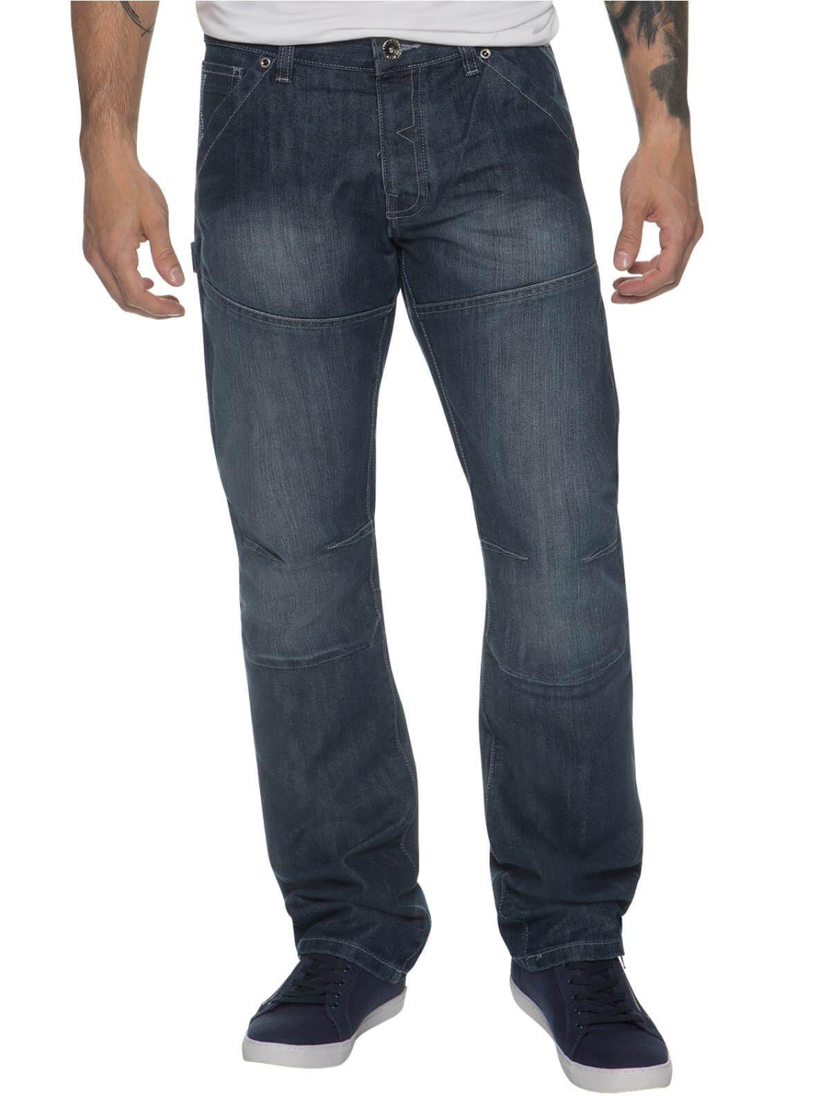 Mens Midwash Straight Fit Denim Jeans EZ243 | Enzo Designer Menswear