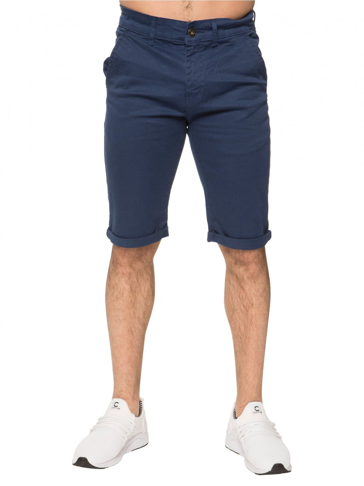 Mens Slim Fit Stretch Chino Shorts | Enzo Designer Menswear