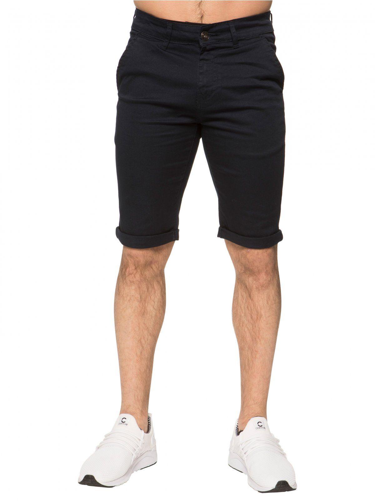 Enzo Men's Slim Fit Stretch Chino Shorts