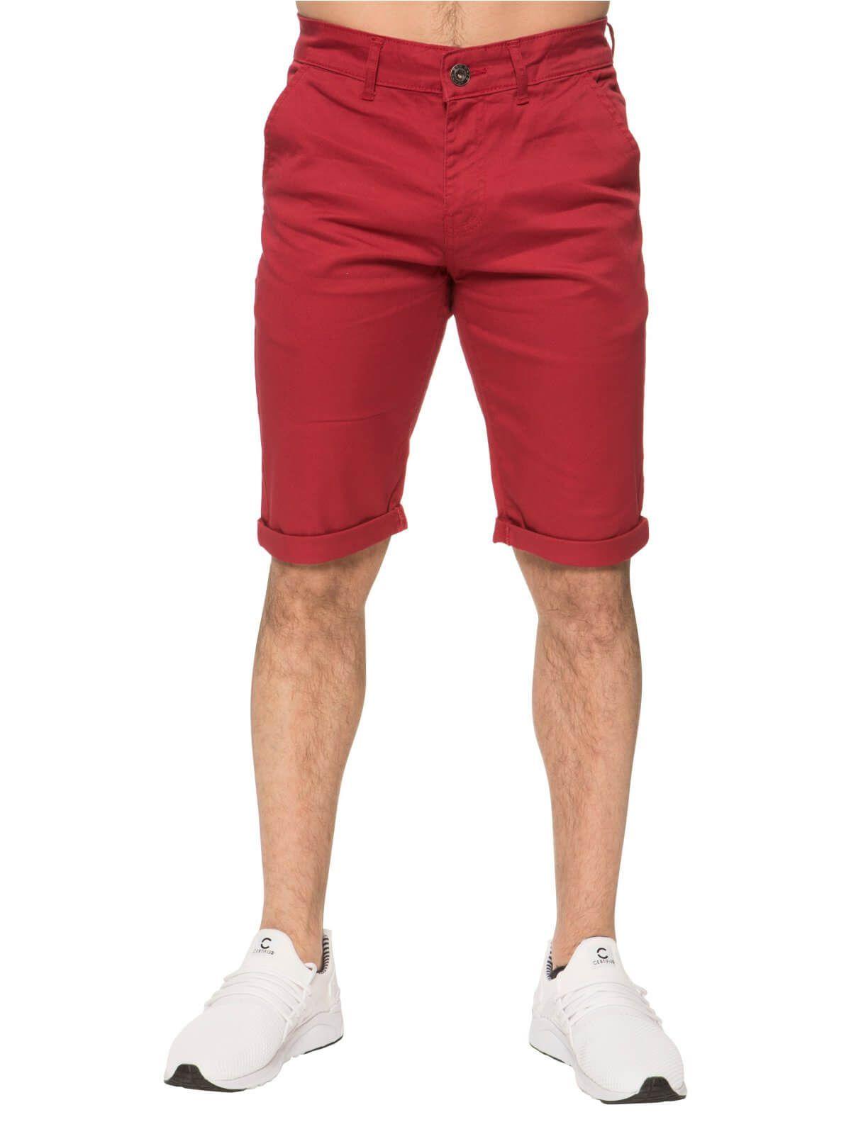 Mens Slim Fit Stretch Chino Shorts   Enzo Designer Menswear