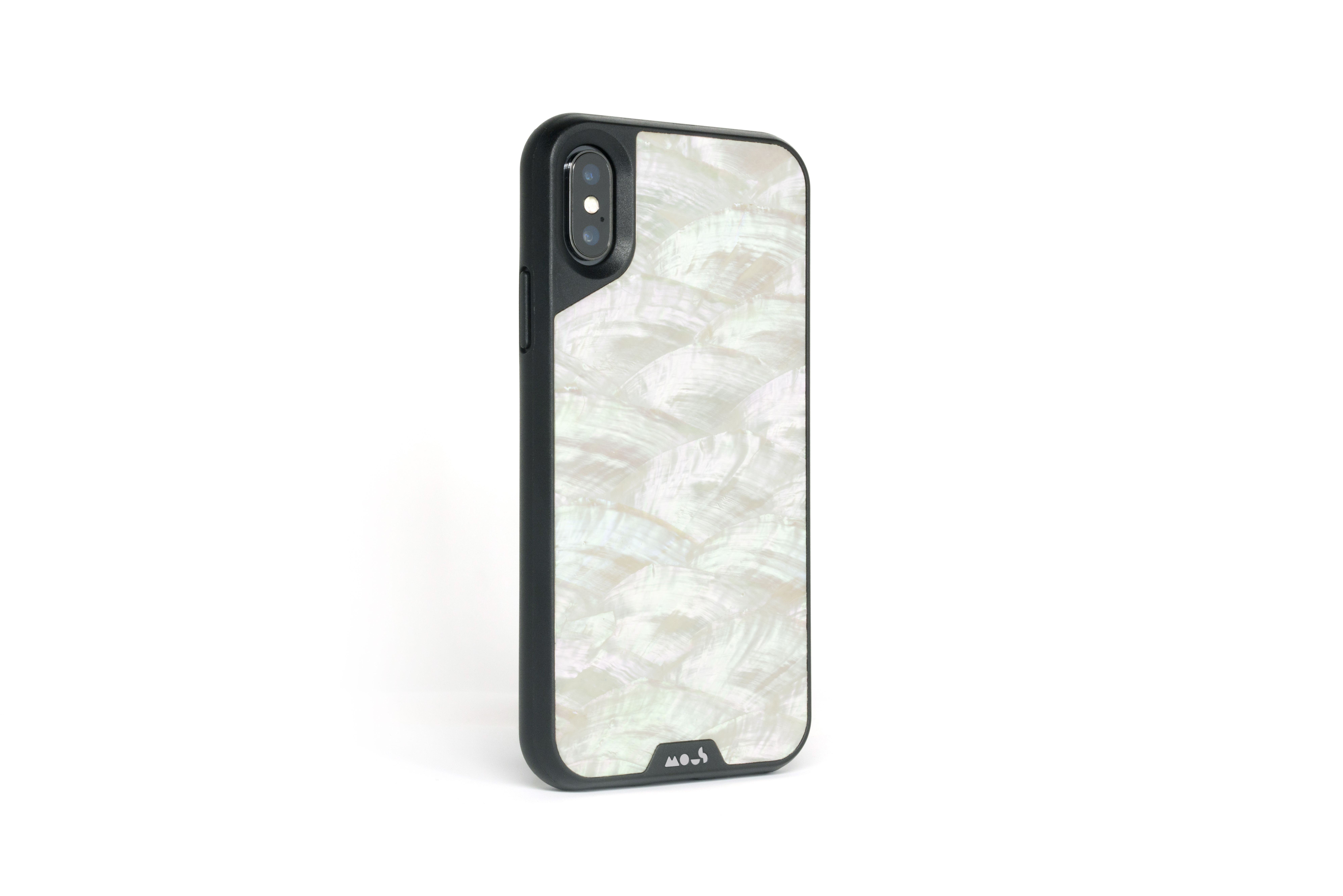 Mous - Protective Case for iPhone XS Max - Limitless 2.0 - White Shell - Screen Protector Included