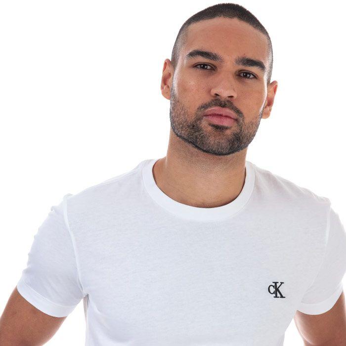 Men's Calvin Klein Essential Slim Organic Cotton T-Shirt in White