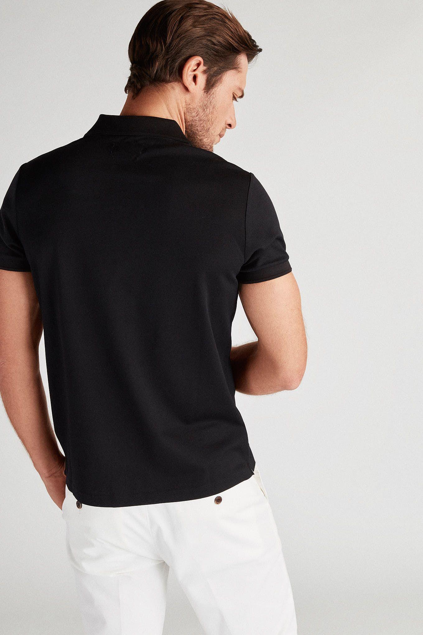 Men s 100% Cotton Slim Fit Sport Polo Piquet Shirt