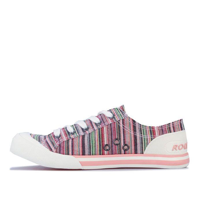 Women's Rocket Dog Jazzin Sammie Stripe Pumps in Pink