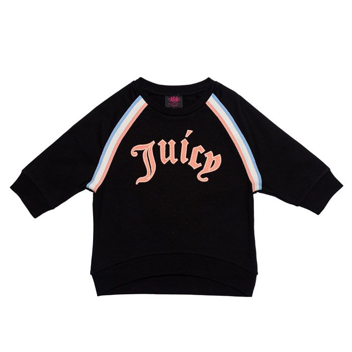 Girl's Juicy Couture Junior Gothic Script Sweat in Black