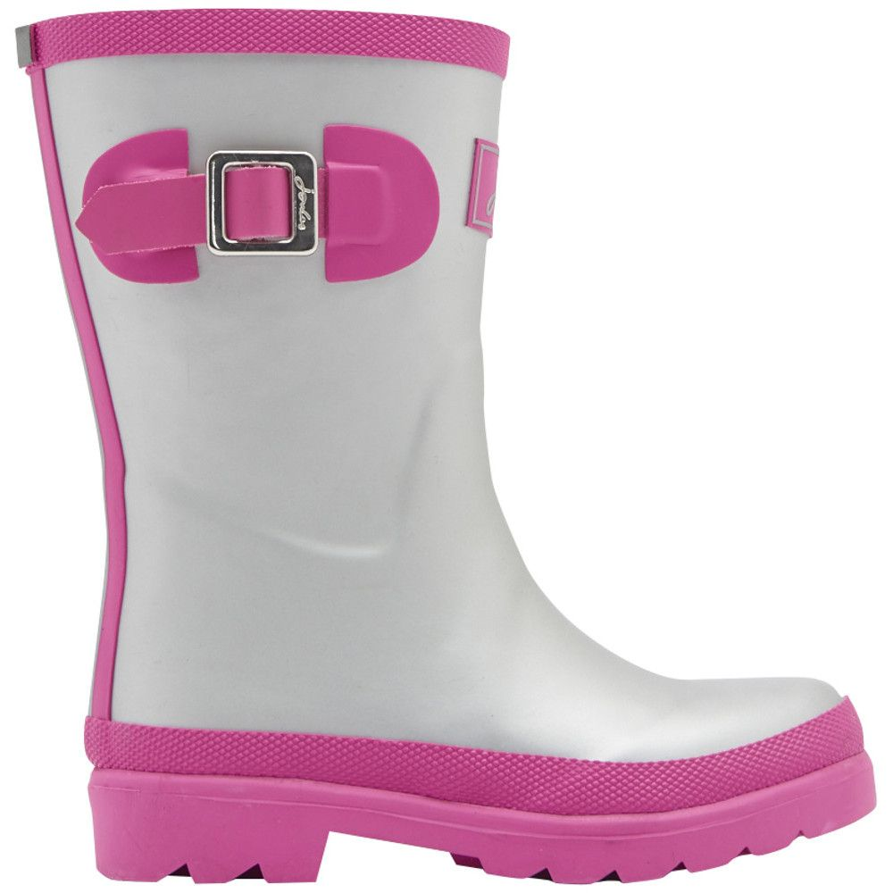 Joules Girls Junior Welly Printed Buckle Detail Welly Wellington Boots