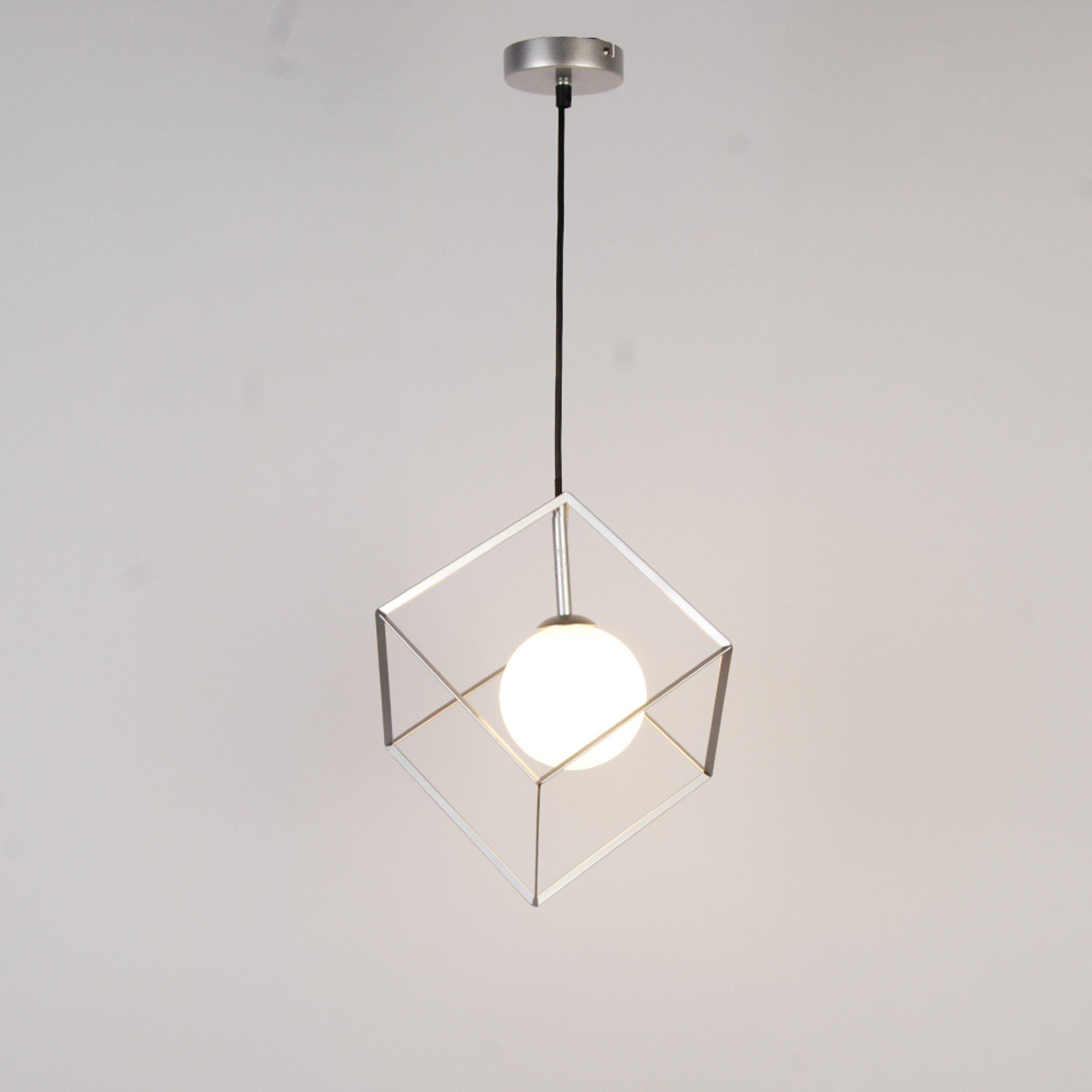 Villem 1 Light Silver Pendant Ceiling Light