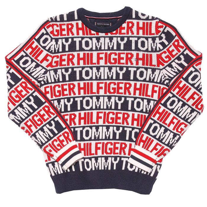 Boys' Tommy Hilfiger Infant All Over Print Sweat in Navy