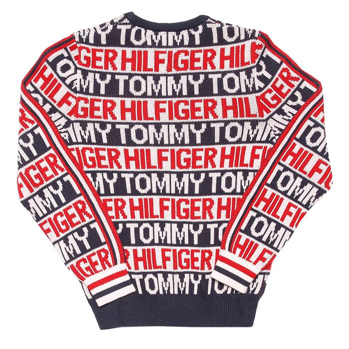 Boys' Tommy Hilfiger Junior All Over Print Sweat in Navy