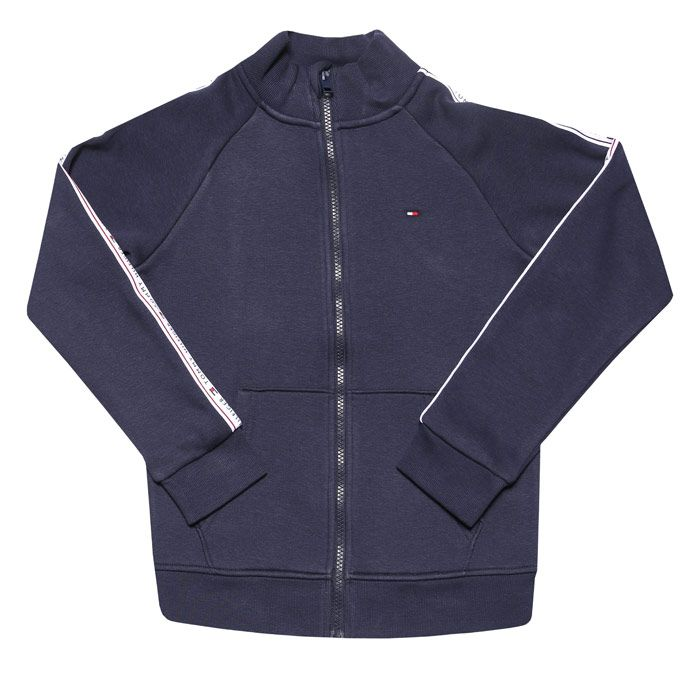 Boys' Tommy Hilfiger Infant Tommy Tape Zip Hoodie in Navy