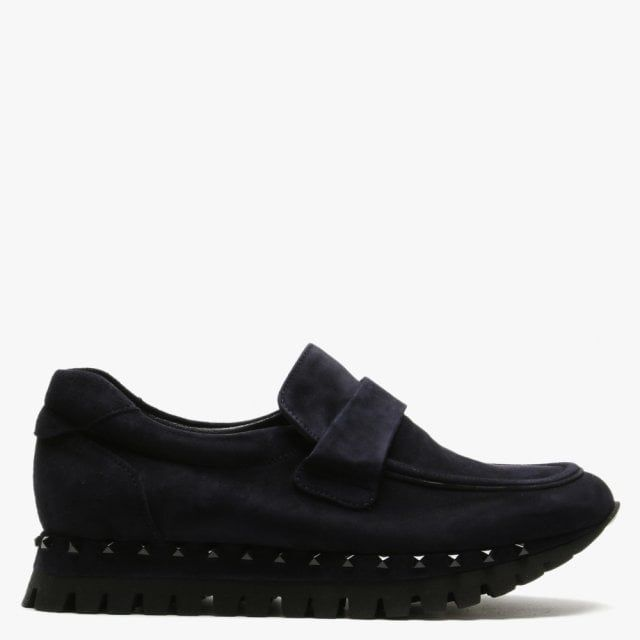 Kennel & Schmenger Flute Suede Studded Sole Loafers