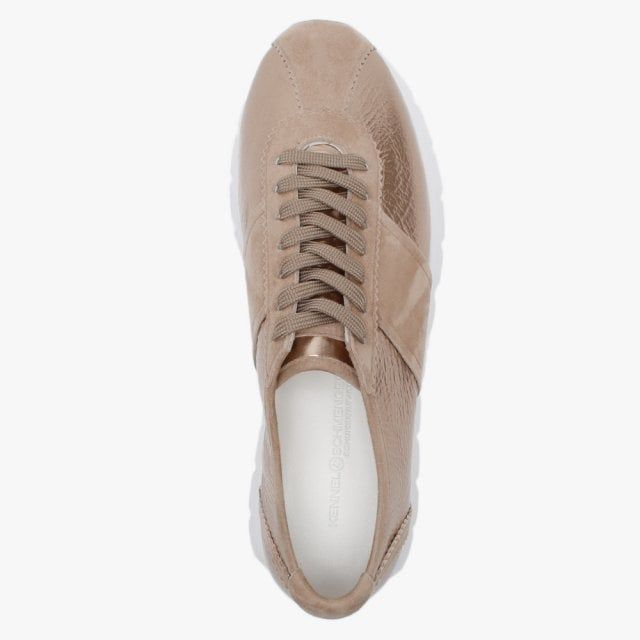 Kennel & Schmenger Rise Leather & Suede Chunky Lace Up Trainers