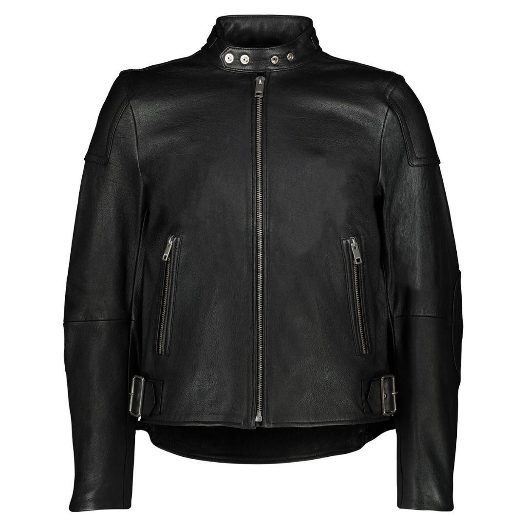 Diesel L-Rushis Black Leather Biker Jacket