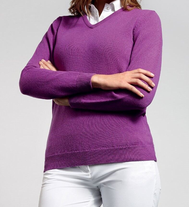 Violet V Neck Jumper