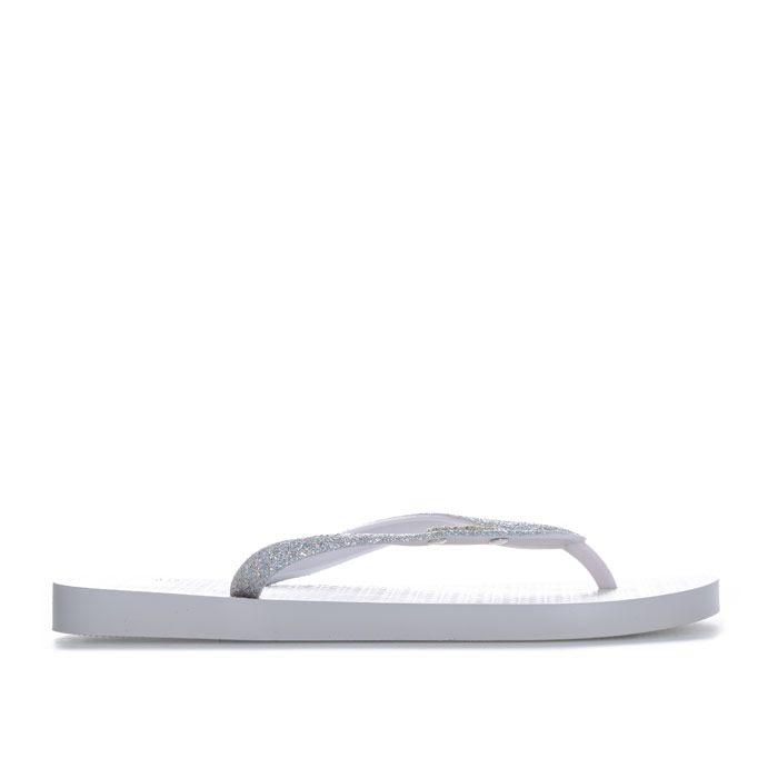 Women's Ipanema Lolita Glitter Flip Flops in White