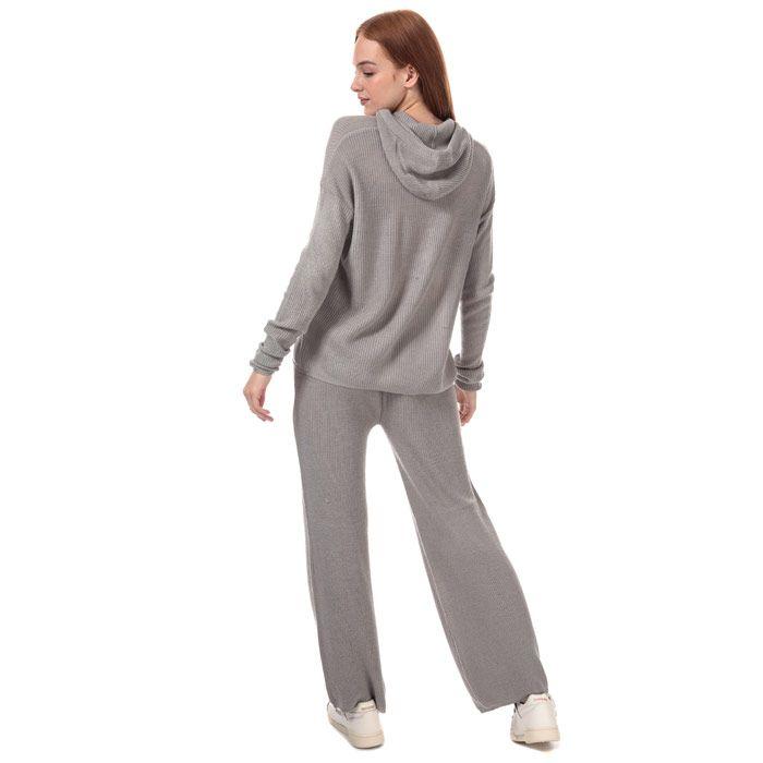 Women's Brave Soul Knitted Co-ord Loungewear Set in Grey