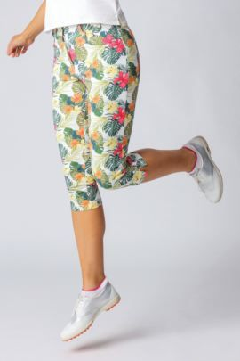Patterned Cropped Trouser
