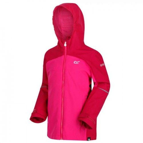 Regatta Childrens/Kids Hipoint Stretch IV Lightweight Hooded Waterproof Jacket