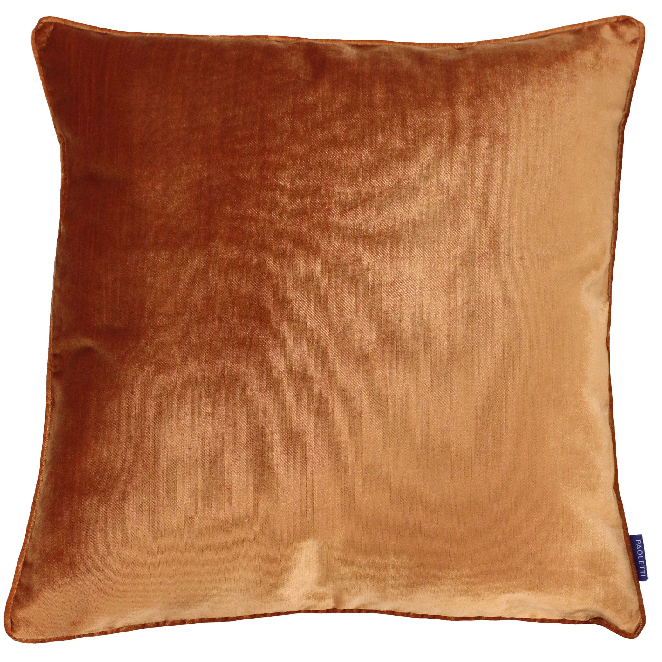 Luxe Velvet 55X55 Poly Cushion Rust