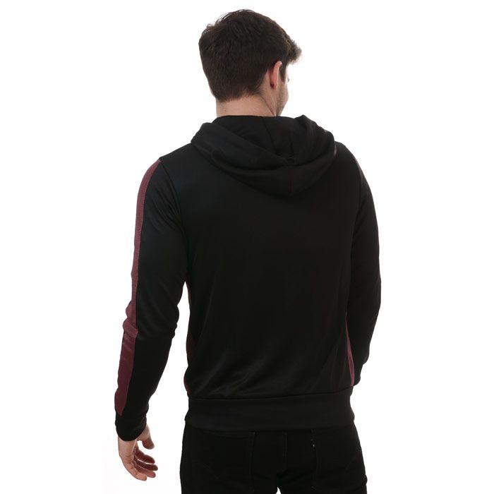 True Religion Men's Tape Sleves Zip Hoodie in Black