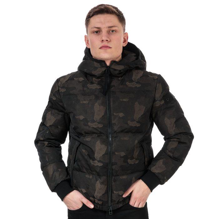 Men's True Religion Down Jacket in Camo