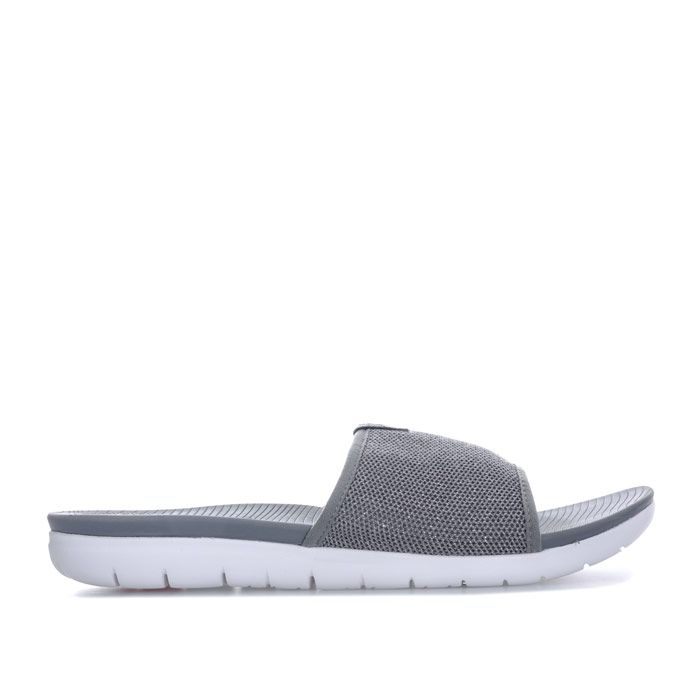 Women's Fit Flop Uberknit Slide Sandals in Charcoal