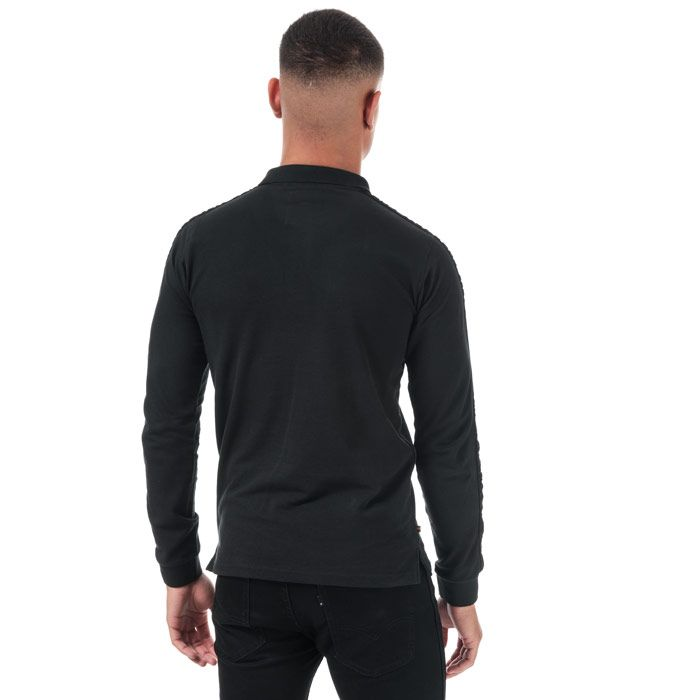 Men's Luke 1977 Willtape Long Sleeve Polo Shirt in Black