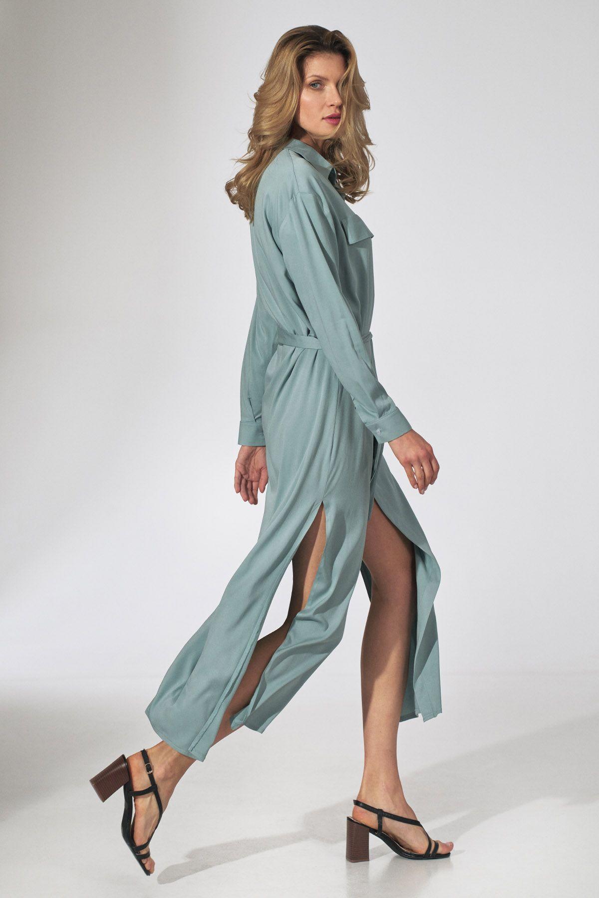Mint Shirt Dress