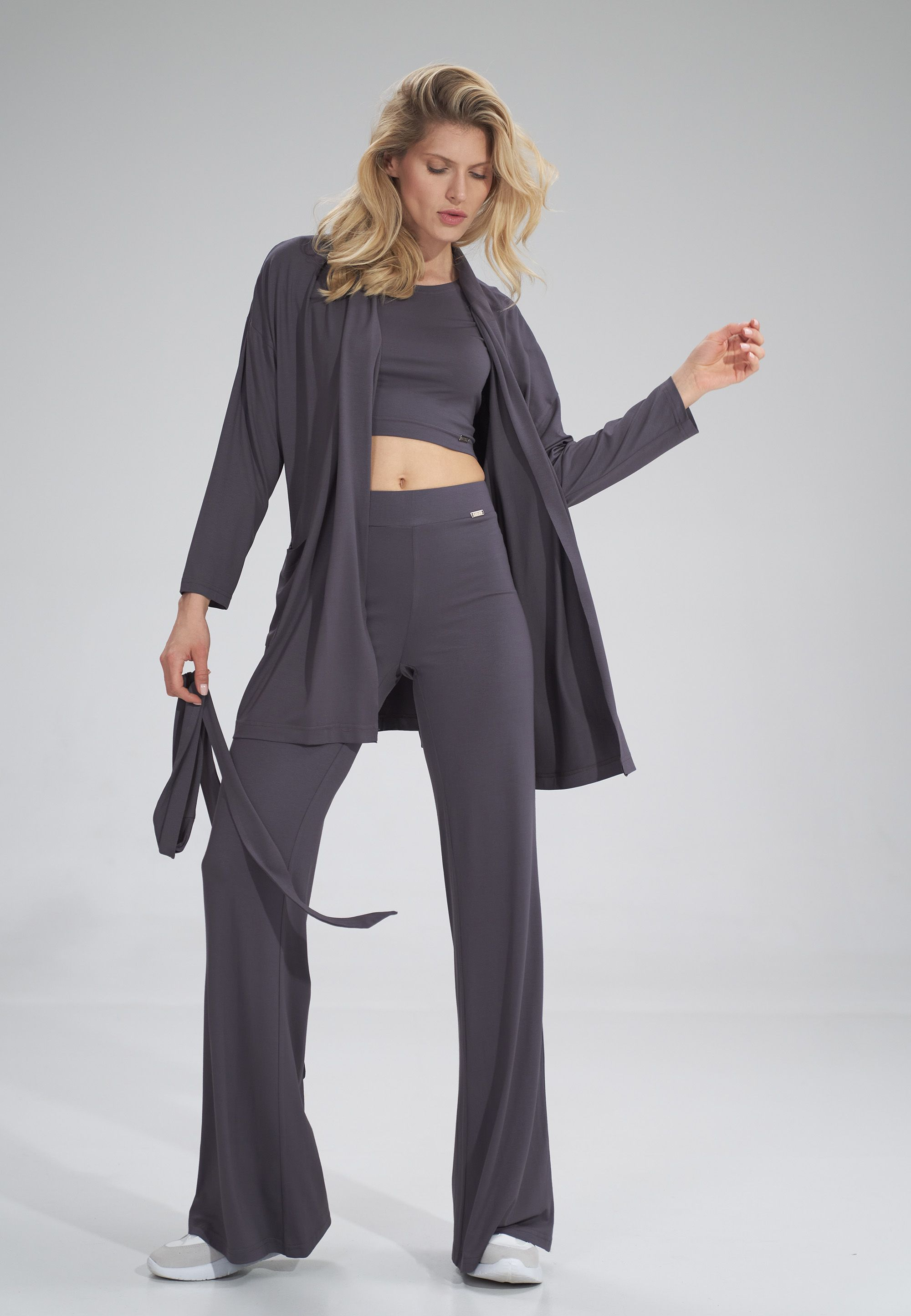 Cardigan with a belt