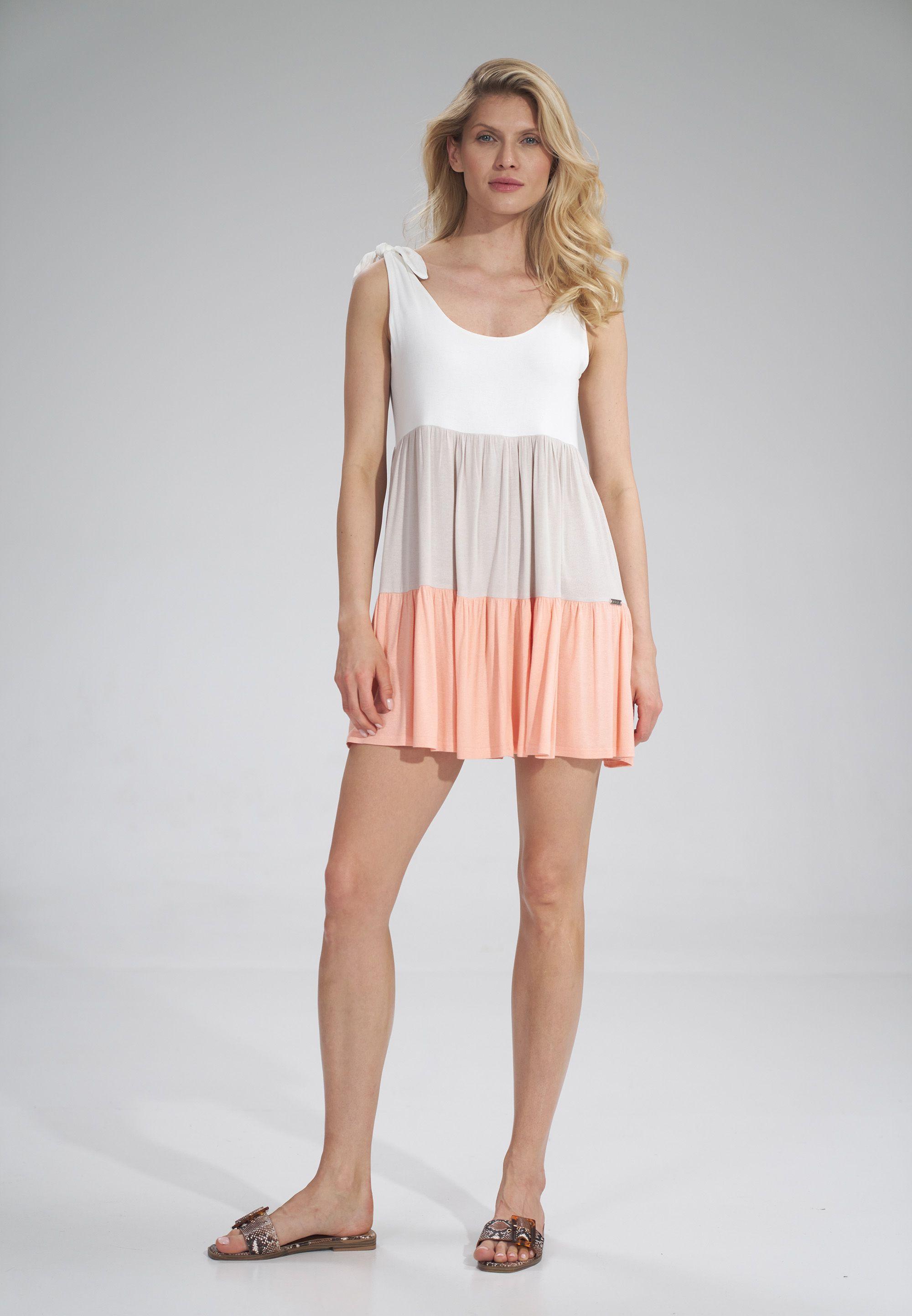 Shoulder Tie Mini Dress