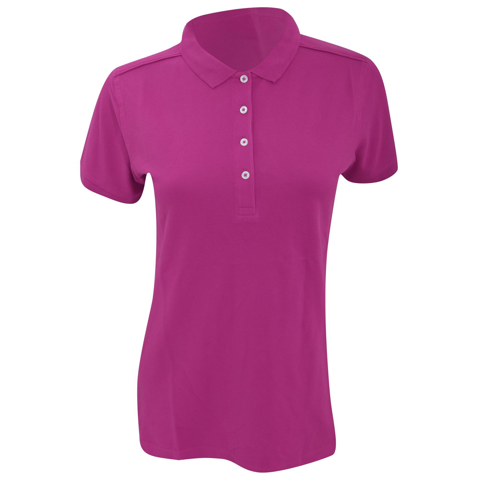 Russell Womens/Ladies Stretch Short Sleeve Polo Shirt (Fuchsia)