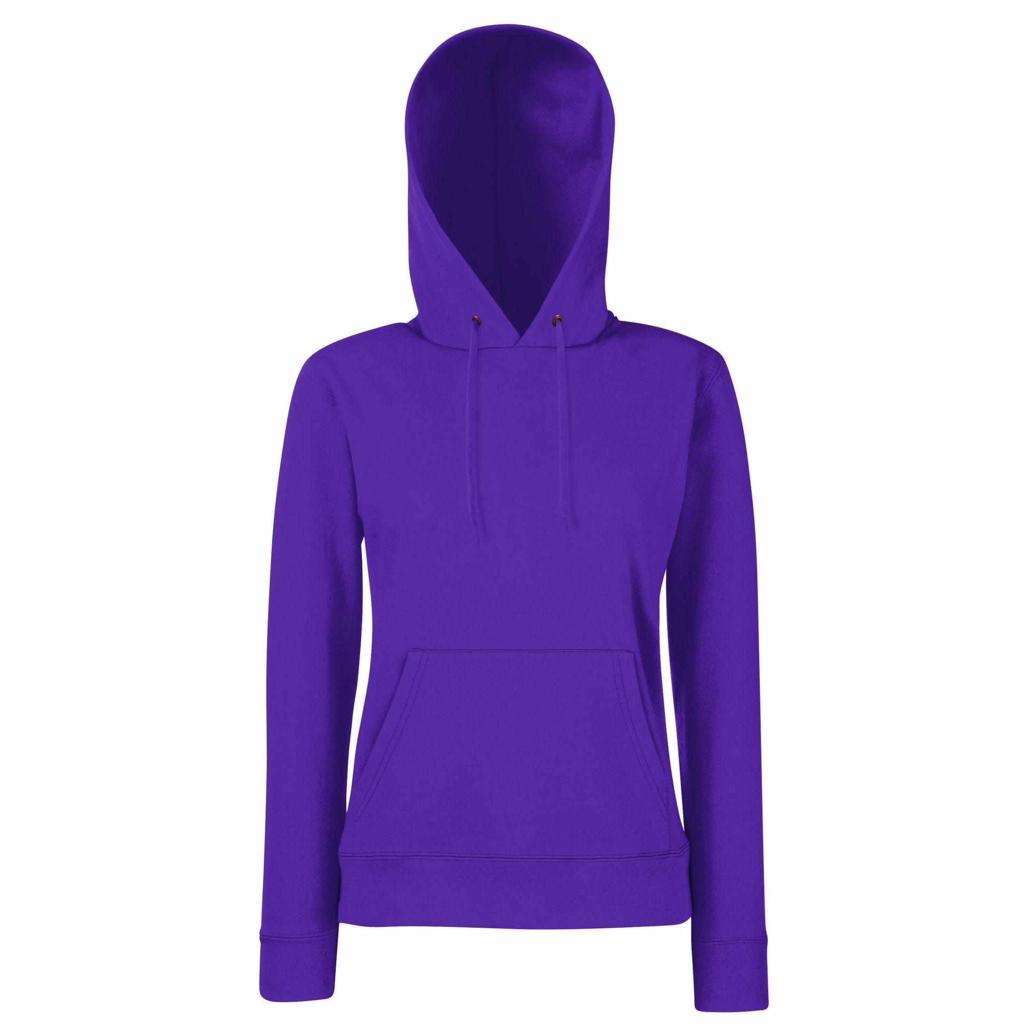Fruit Of The Loom Ladies Lady Fit Hooded Sweatshirt / Hoodie