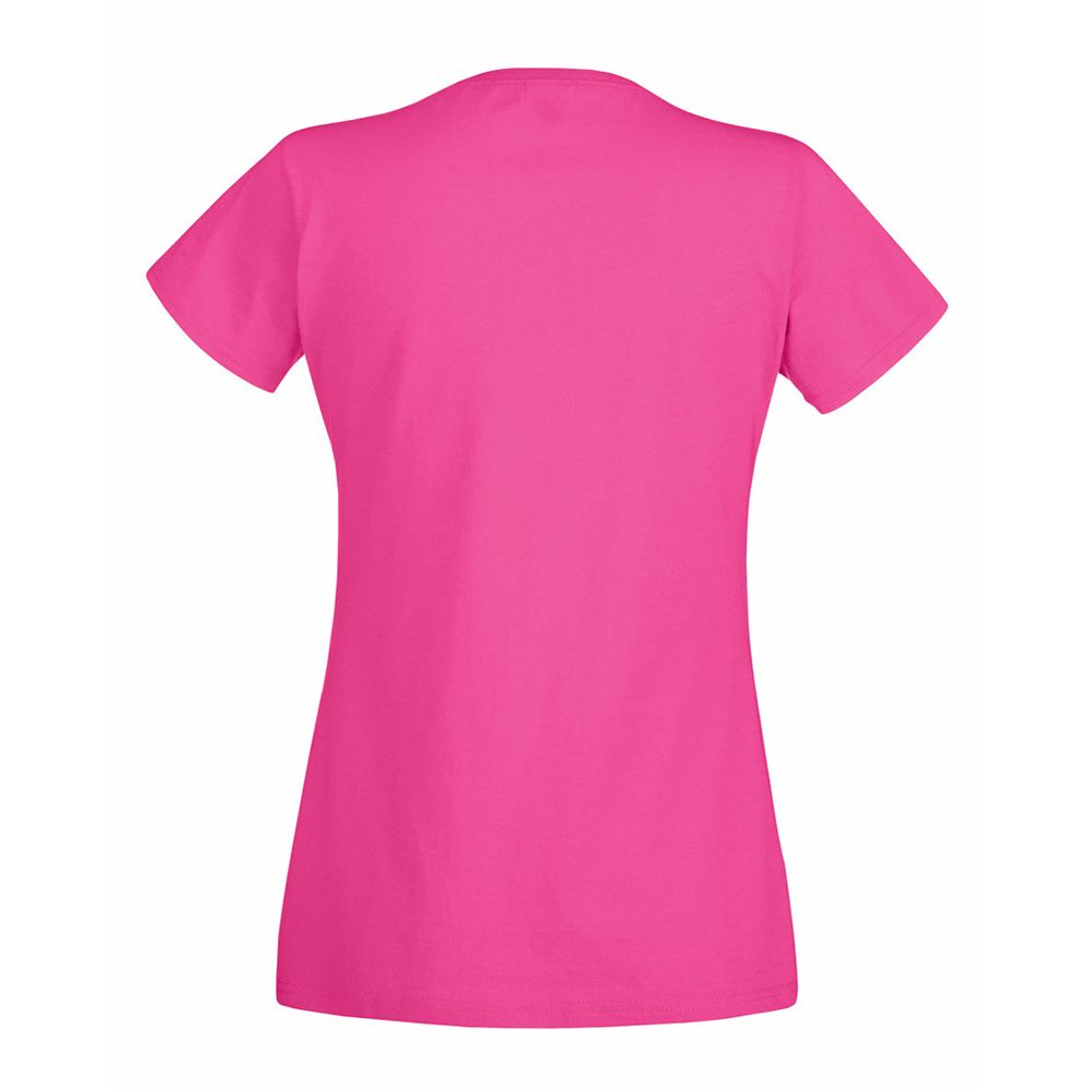 Fruit Of The Loom Ladies/Womens Lady-Fit Valueweight Short Sleeve T-Shirt (Pack Of 5) (Fuchsia)