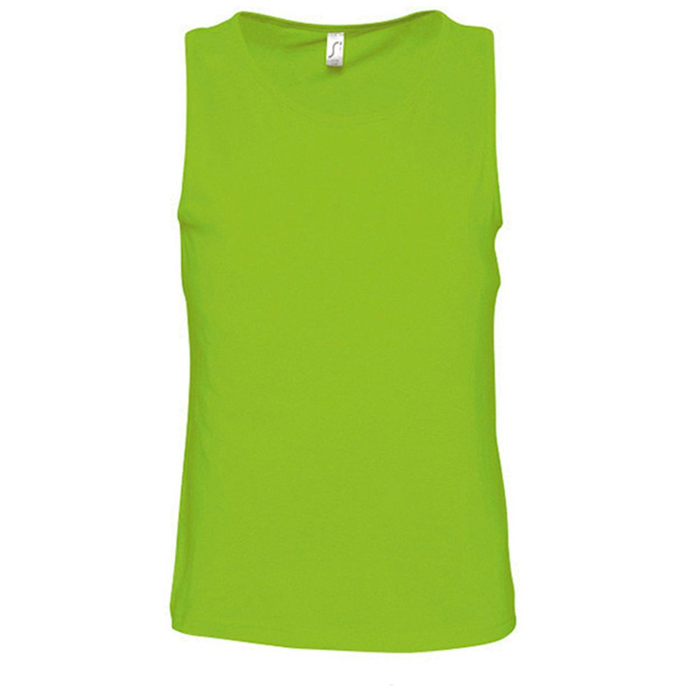 SOLS Mens Justin Sleeveless Tank / Vest Top (Lime)