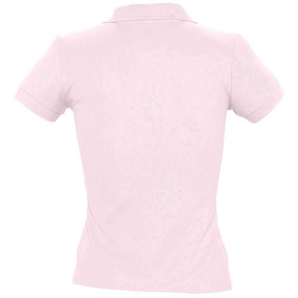 SOLS Womens/Ladies People Pique Short Sleeve Cotton Polo Shirt (Pale Pink)