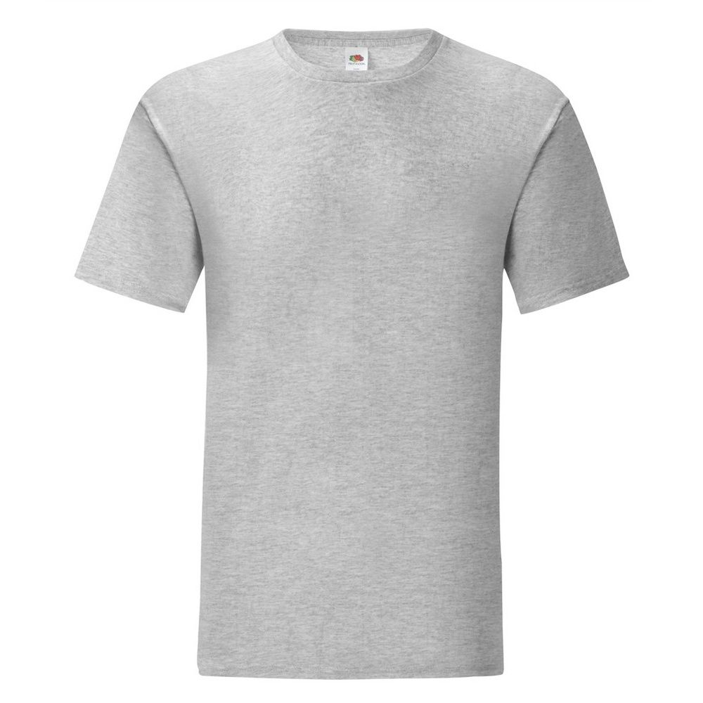 Fruit Of The Loom Mens Iconic T-Shirt (Pack of 5) (Heather Grey)