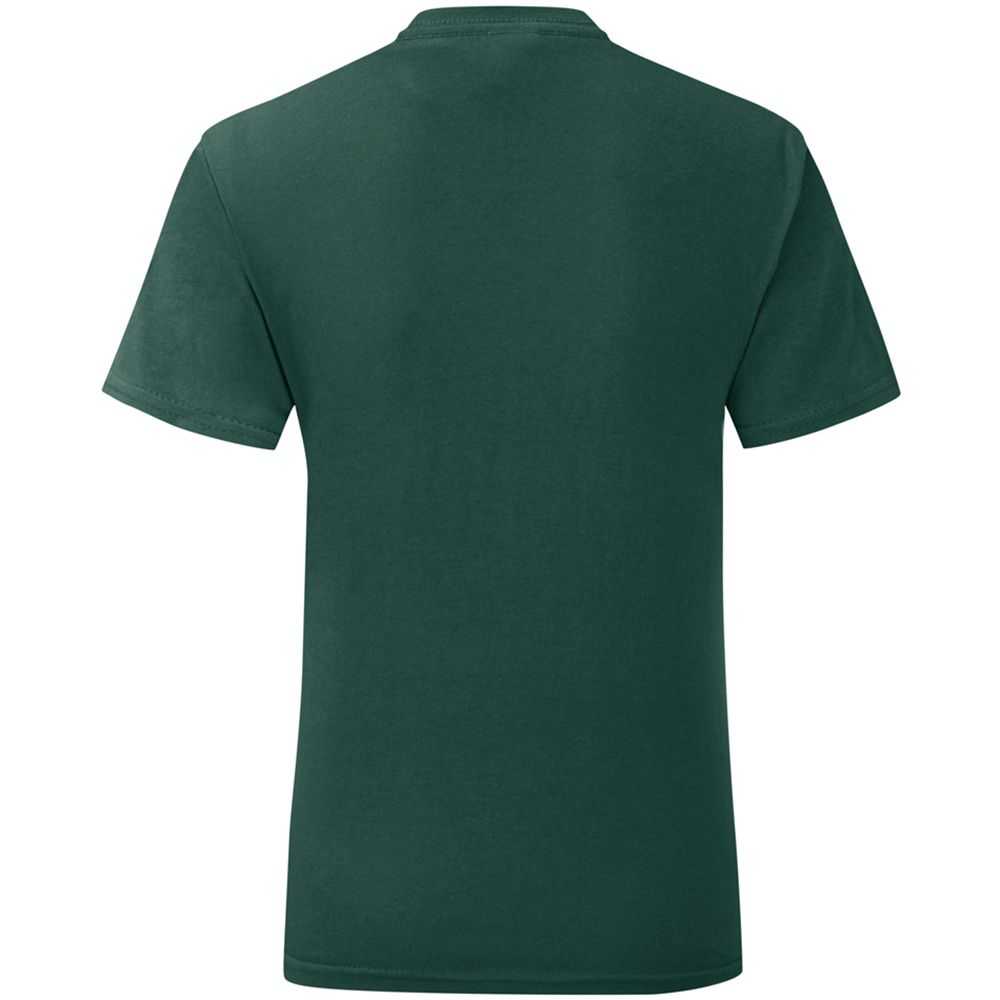 Fruit Of The Loom Mens Iconic T-Shirt (Pack of 5) (Forest Green)