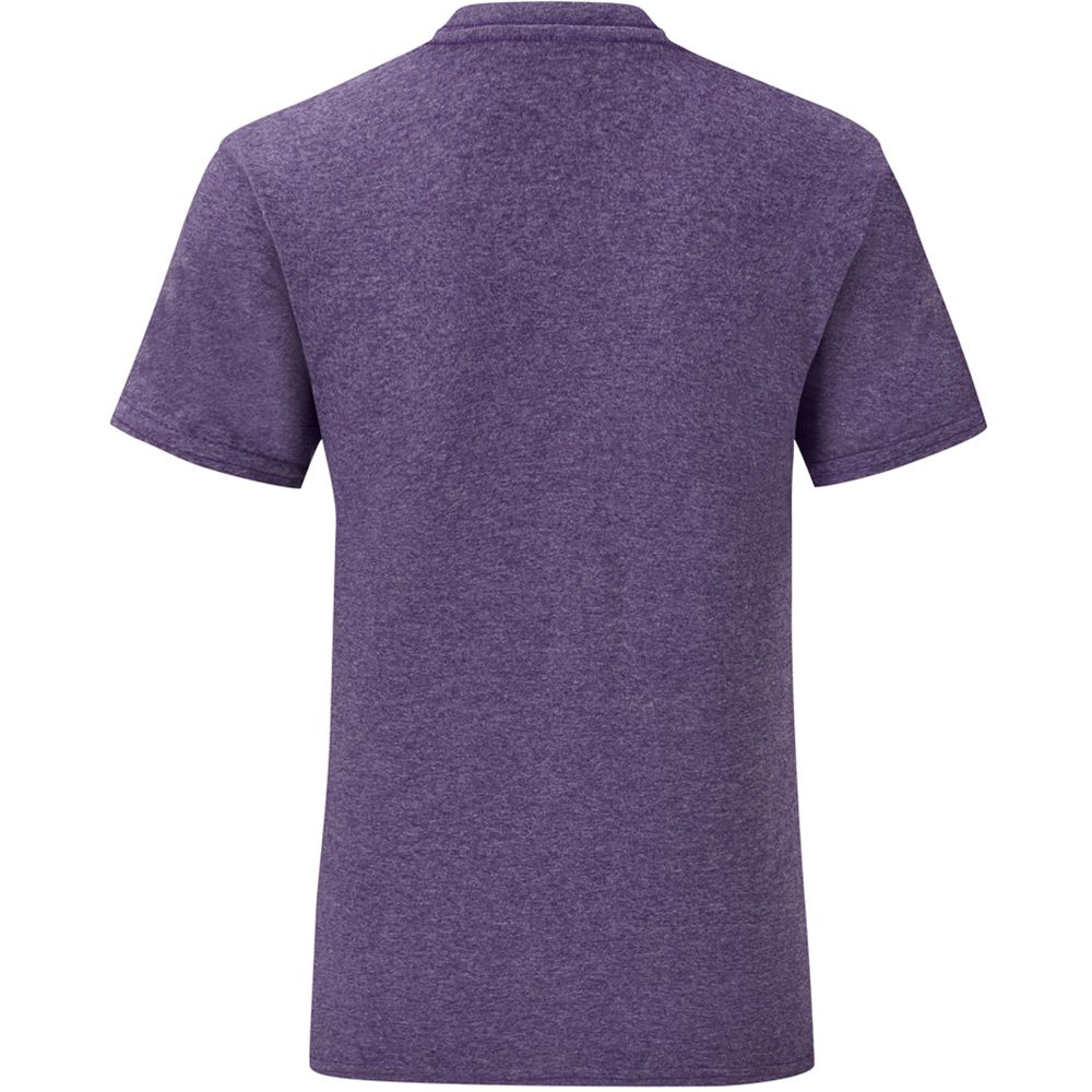 Fruit Of The Loom Mens Iconic T-Shirt (Pack of 5) (Heather Purple)