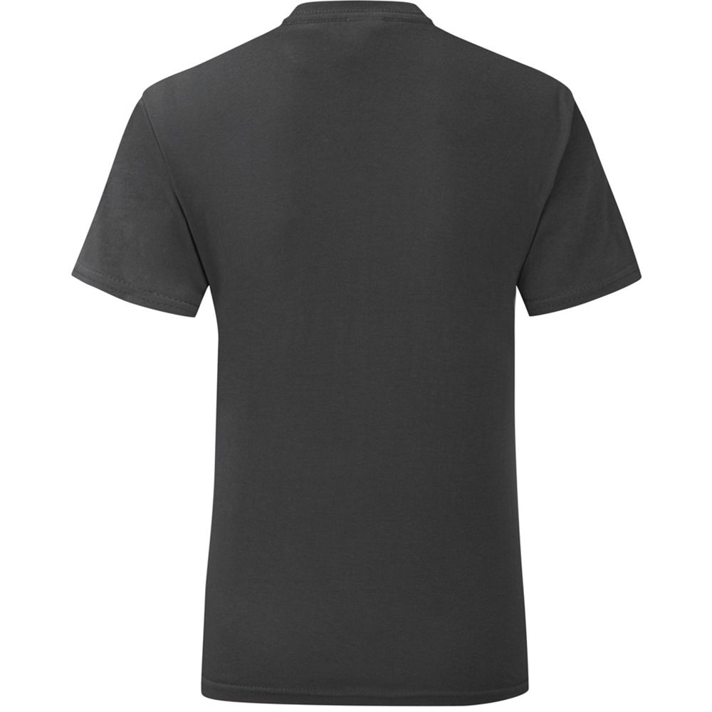 Fruit Of The Loom Mens Iconic T-Shirt (Pack of 5) (Black)